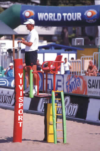 Seggiolone arbitro beach-volley uff. Mondiali Beach-Volley anno 99